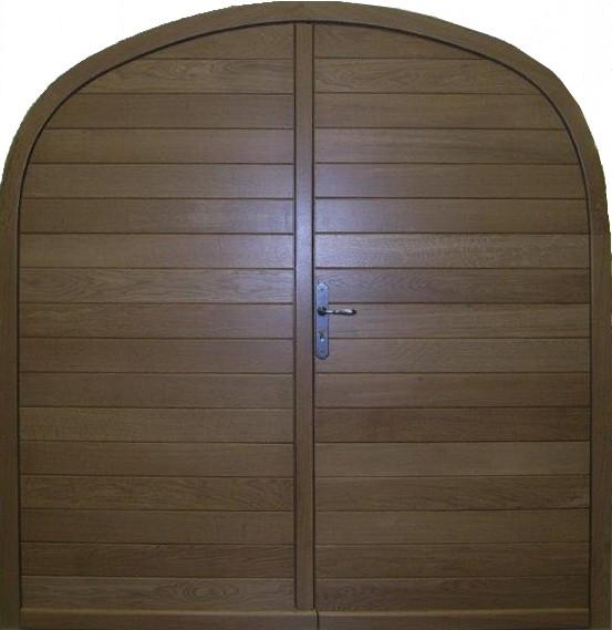 Portes d 39 entr e menuiserie berthaud for Porte de garage bois 2 vantaux sur mesure